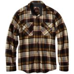 Prana Men's Lybeck Flannel – Black – Size M