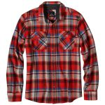 Prana Men's Lybeck Flannel – Orange – Size S