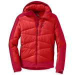Outdoor Research Mens Diode Hooded Jacket – Red