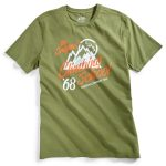 Ems Men's Climbing School Graphic Tee  – Green – Size M