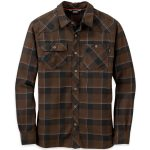 Outdoor Research Men's Feedback Flannel Shirt – Brown – Size S