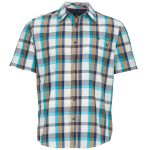 Marmot Mens Asheboro Short Sleeve Shirt – Blue – Size S