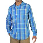 Exofficio Men's Talisman Plaid Shirt, L/s   – Blue – Size S