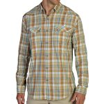 Exofficio Men's Minimo Plaid Shirt, L/s  – Brown – Size XL