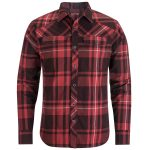Black Diamond Mens Stretch Technician Long-Sleeve Shirt – Red – Size S