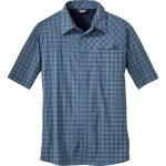 Outdoor Research Men's Astroman Short-Sleeve Shirt – Blue – Size M
