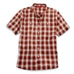 Ems Men's Ranger Short-Sleeve Plaid Shirt – Brown – Size M