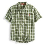 Ems Men's Ranger Short-Sleeve Plaid Shirt – Green – Size S