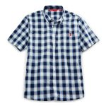 Ems Men's Ranger Short-Sleeve Plaid Shirt – Blue – Size M