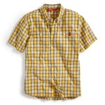Ems Men's Ranger Short-Sleeve Plaid Shirt – Yellow – Size M