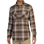Exofficio Men's Geode Flannel Shirt  – Brown – Size S