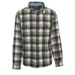 Woolrich Men's Buffalo Check Wool Shirt – Black – Size M