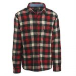 Woolrich Men's Buffalo Check Wool Shirt – Red – Size S