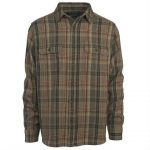 Woolrich Men's Oxbow Bend Plaid Flannel Shirt – Brown – Size XXL