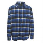 Woolrich Men's Oxbow Bend Plaid Flannel Shirt – Blue – Size XL