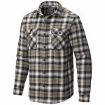 Mountain Hardwear Mens Trekkin Flannel – Brown – Size XL