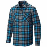 Mountain Hardwear Mens Trekkin Flannel – Blue – Size XL