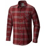 Mountain Hardwear Mens Franklin Long-Sleeve Shirt – Red – Size XL