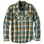 Prana Mens Huntley Button-Down Shirt – Green – Size S