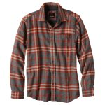 Prana Mens Woodman Long-Sleeve Flannel – Brown – Size S
