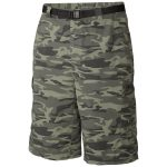 Columbia Mens Silver Ridge Printed Cargo Shorts – Green – Size 30