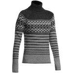 Icebreaker Womens Aura Long Sleeve Turtleneck Sweater – Black – Size L