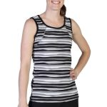 Exofficio Women's Techspressa Stripe Tank  – Black – Size XL