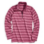Ems Womens Techwick Essence Long-Sleeve 1/4 Zip  – Red – Size L