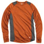 Ems Mens Techwick Midweight Long-Sleeve Crew Baselayer  – Orange