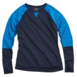 Ems Womens Techwick Midweight Long-Sleeve Crew Baselayer  – Blue