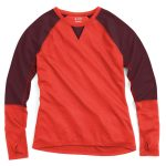Ems Womens Techwick Midweight Long-Sleeve Crew Baselayer  – Red