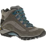 Merrell Women's Siren Mid Waterproof Hiking Boots, Castle Rock/blue – Black