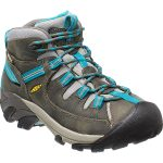 Keen Women's Targhee Ii Mid Waterproof Hiking Boots, Gargoyle/caribbean Sea – Black
