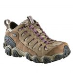 Oboz Women's Sawtooth Low Bdry Waterproof Hiking Shoes – Purple