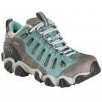 Oboz Womens Sawtooth Low Bdry Waterproof Hiking Shoes, Mineral Blue – Green