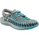 Keen Women's Uneek Flat Cord Sandals, Capri/camo – Blue