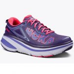 Hoka One One Women's Bondi 4 Running Shoes, Mulberry Purple/neon Pink – Purple