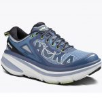 Hoka One One Womens Bondi 4 Running Shoes, Hydrangea/sunny Lime – Blue