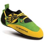 La Sportiva Kids' Stickit Climbing Shoes, Green/yellow – Green
