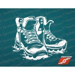 Sportstickers Hiking Boots, White – White