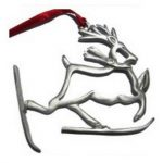 Creatively Yours Reindeer On Skis Ornament