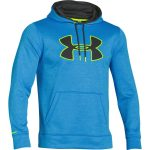 Under Armour Men's Storm Armour Fleece Big Logo Blocked Hoodie – Blue