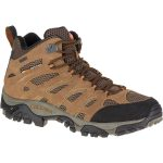 Merrell Men's Moab Mid Wp Hiking Boots, Earth, Wide – Brown