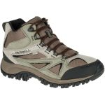 Merrell Mens Phoenix Bluff Mid Waterproof Hiking Shoes, Putty – Brown