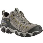 Oboz Men's Sawtooth Low Hiking Shoes, Pewter – Black