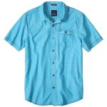 Prana Mens Patras Slim-Fit Shirt – Blue – Size M