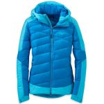 Outdoor Research Womens Diode Hooded Down Jacket – Blue