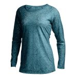 Ems Womens Burnout Long-Sleeve Top  – Green – Size XS