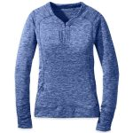 Outdoor Research Womens Melody Long-Sleeve Shirt – Blue – Size XL