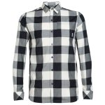 Icebreaker Men's Departure Ii Long Sleeve Plaid Shirt – Black – Size M
